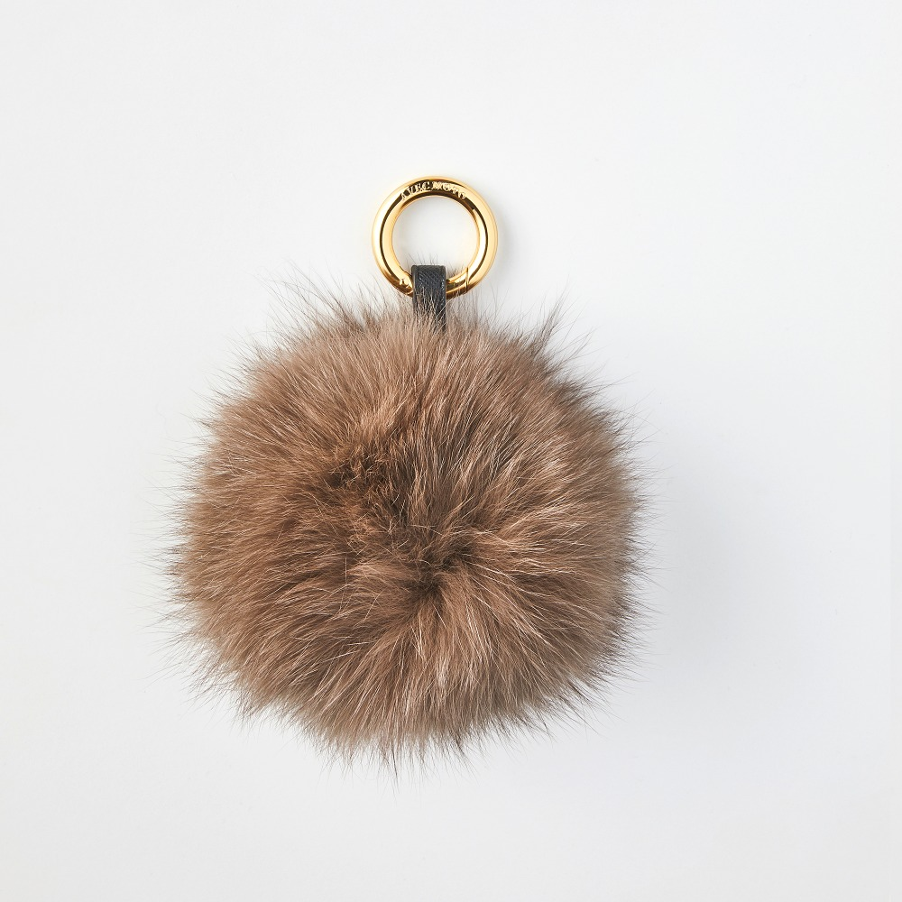 FOX POMPOM BROWN