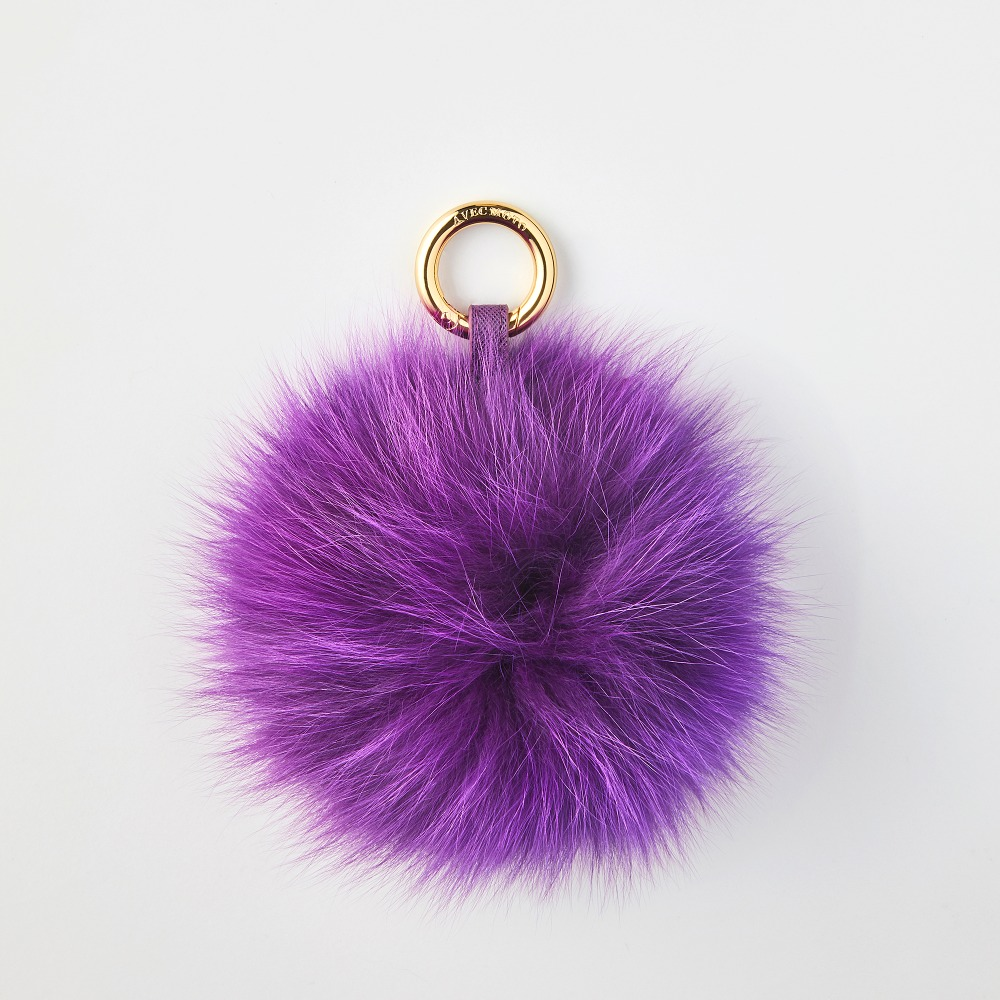 FOX POMPOM PUPLE